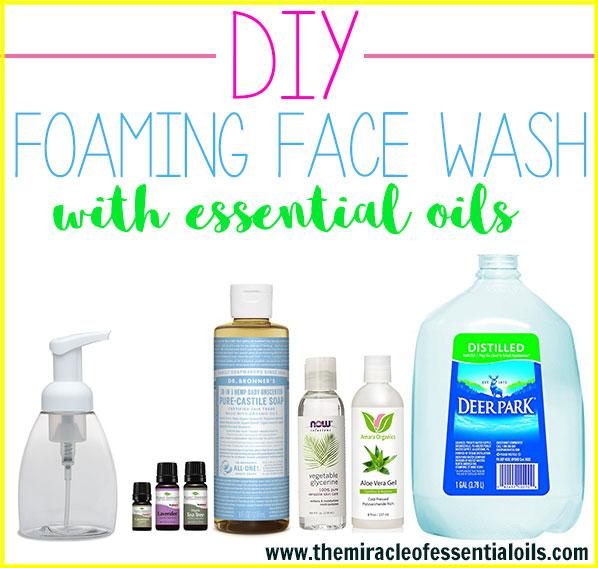 DIY Essential Oil Foaming Face Wash