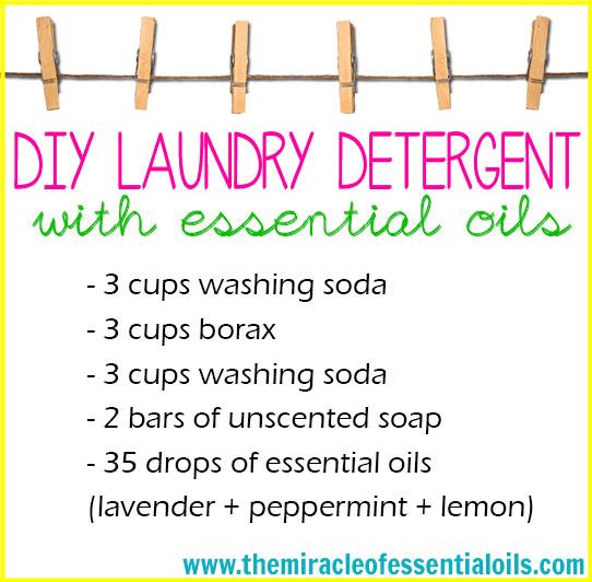 DIY Essential Oil Laundry Detergent