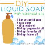 DIY Essential Oil Liquid Soap