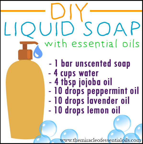 It's so easy to make your own DIY essential oil liquid soap right at home!