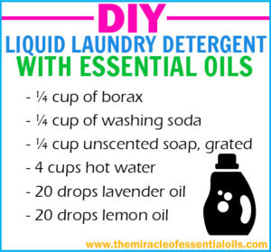 how to make your own laundry detergent with essential oils