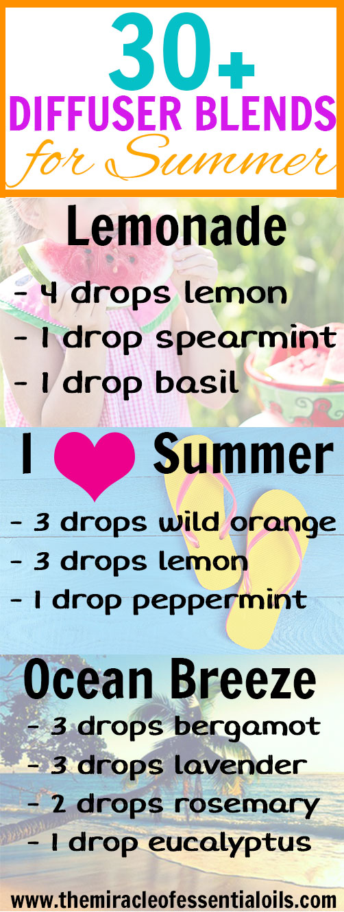 sun is shining and you can smell the ocean in the air! Summer's here! It's time to start using these 30 beautiful essential oil blends for summer! Enjoy ~