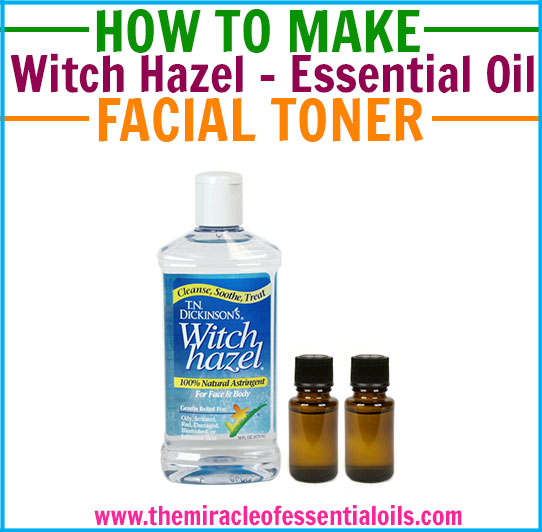 Follow this DIY witch hazel essential oil toner recipe to make your very own incredibly easy, cheap and very effective facial toner!