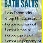 DIY Epsom Salt Essential Oil Detox Bath Recipe