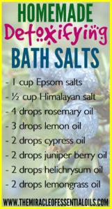 DIY Epsom Salt Essential Oil Detox Bath Recipe