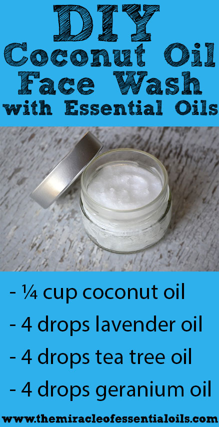 Diy Coconut Oil Face Wash With Essential Oils The