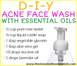 DIY Essential Oil Acne Face Wash with Tea Tree