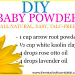 DIY Essential Oil Baby Powder