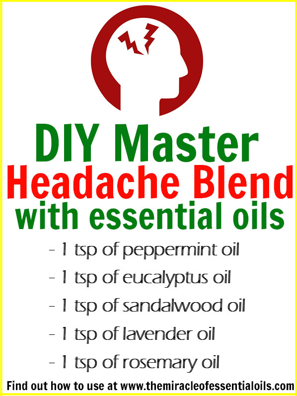 Diy Essential Oil Headache Blend The Miracle Of