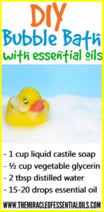 DIY Essential Oil Bubble Bath