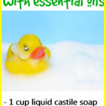 DIY Essential Oil Bubble Bath