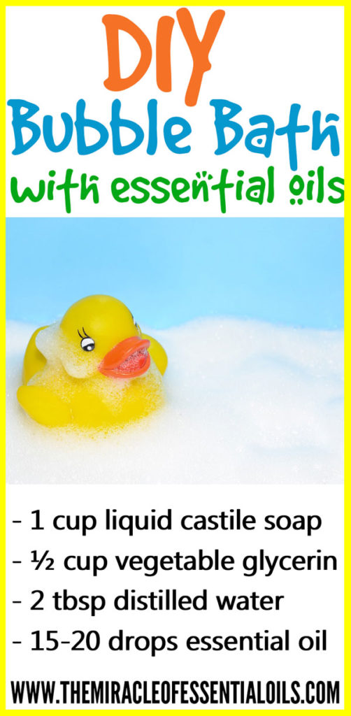 Have fun in the bath with this DIY Essential Oil Bubble Bath recipe!