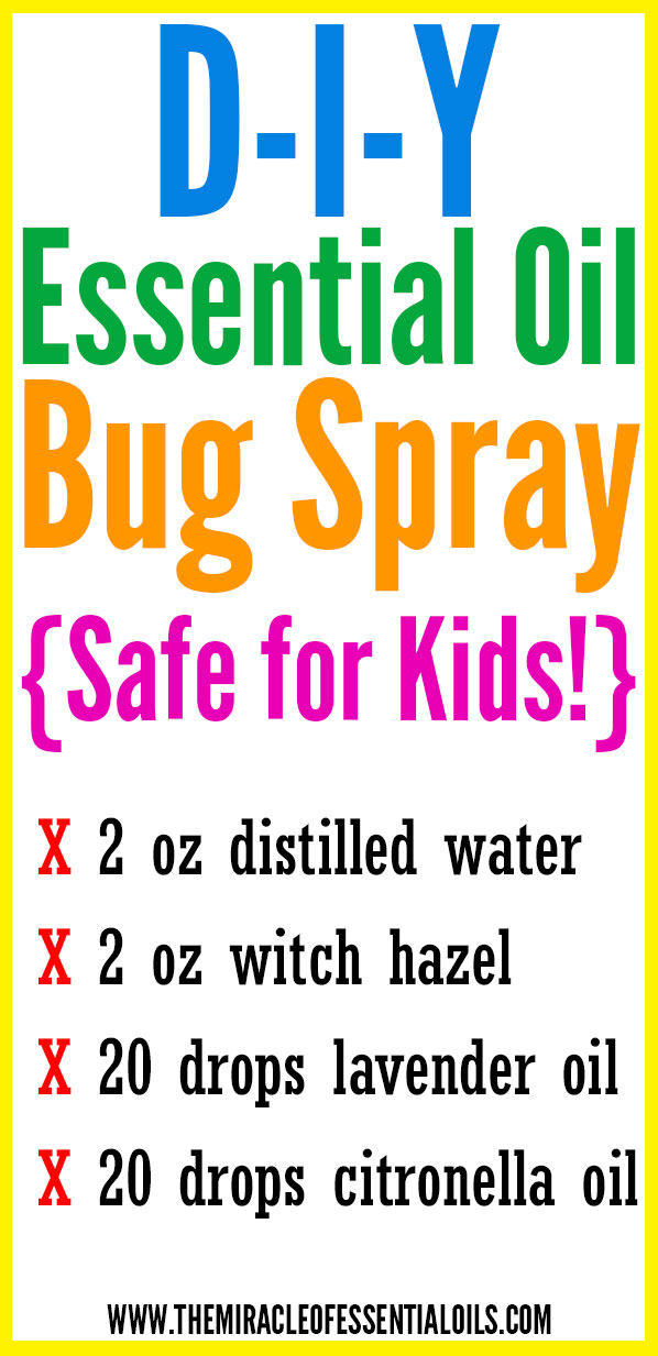 You can safely use this DIY Essential Oil Bug Spray on yourself and your kids!