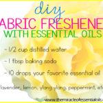 DIY Essential Oil Fabric Freshener