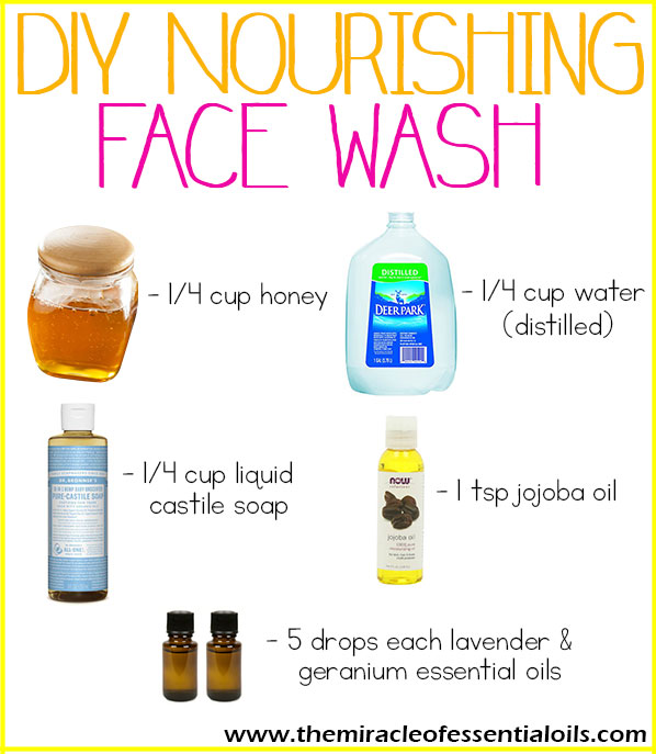 Find out how to make an easy DIY essential oil face wash in this post!