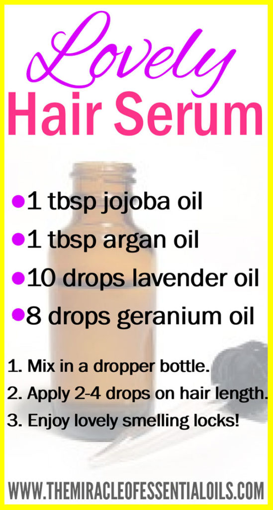 Leave a lovely lingering scent on your locks with this gorgeous DIY essential oil hair serum!