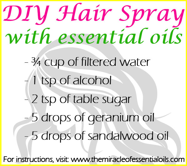 DIY Essential Oil Hair Spray