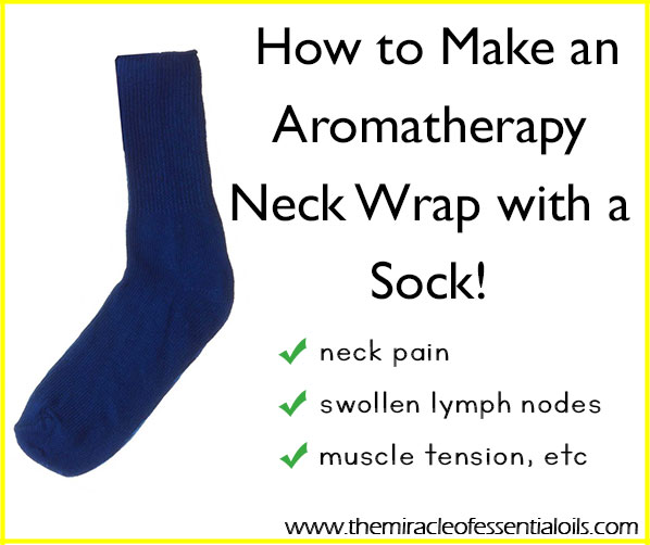 Learn how to make your own DIY essential oil neck wrap, without any sewing knowledge whatsoever!</