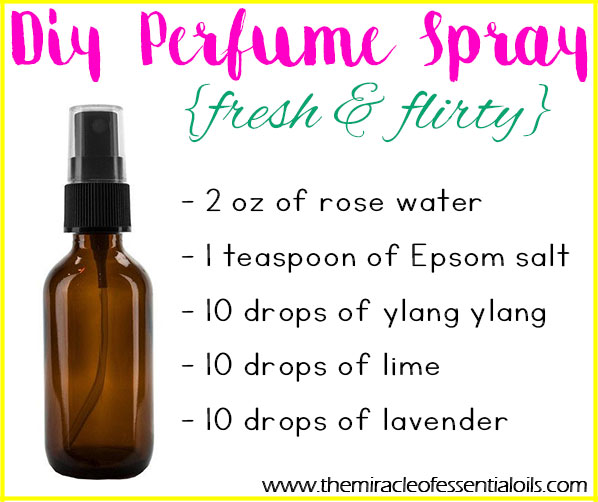 Make this fun, fresh and flirty DIY Essential Oil Perfume Spray and enjoy its amazing fragrance!