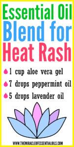 DIY Essential Oil Blend for Heat Rash