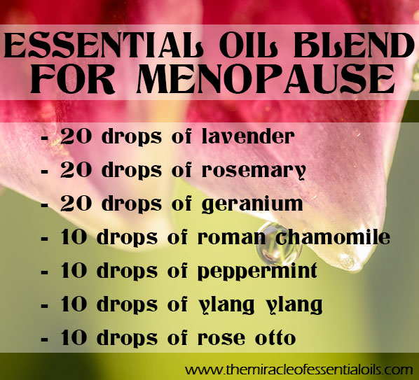 Diy Essential Oil Blend For Menopause The Miracle Of