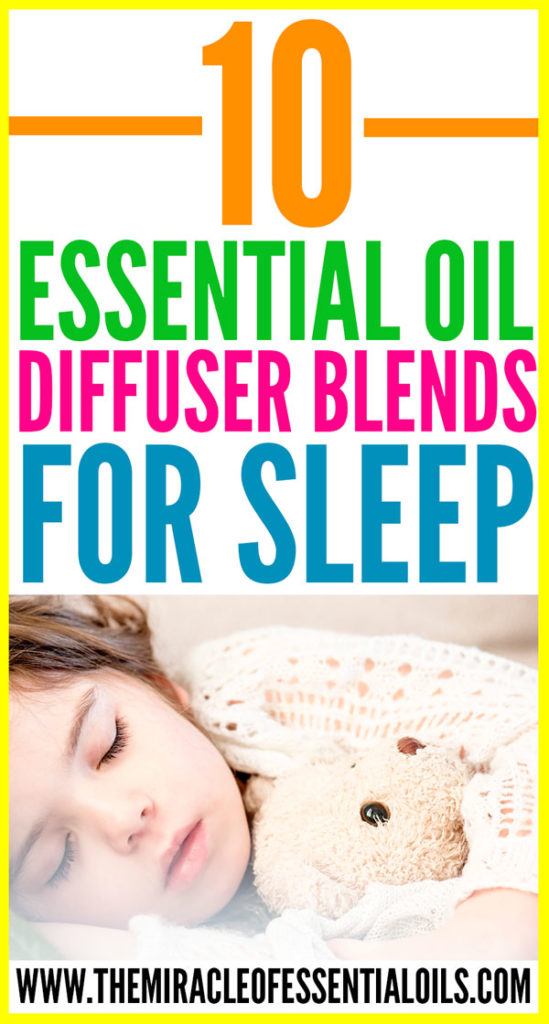Sleep like a baby by diffusing any of these 10 essential oil diffuser blends for sleep!