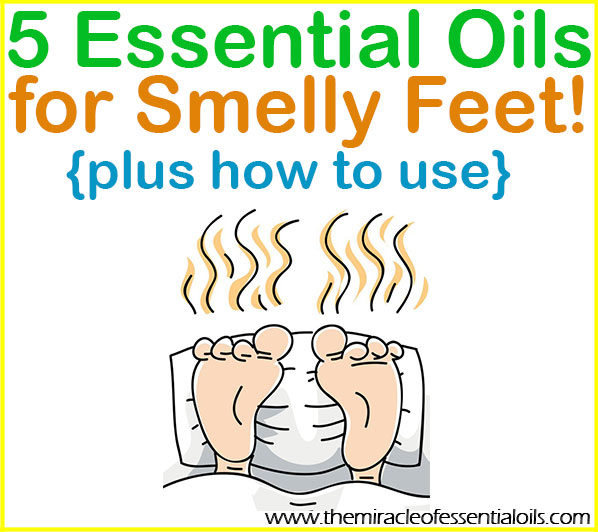 Knock out stinky feet with one or more of the top 5 essential oils for foot odor below!