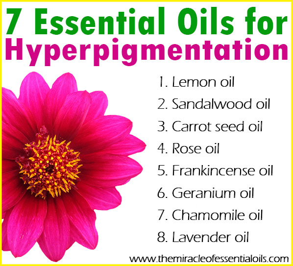 Here's a list of the top 8 essential oils that clear hyperpigmentation naturally and how to use them all in an effective DIY hyperpigmentation serum!