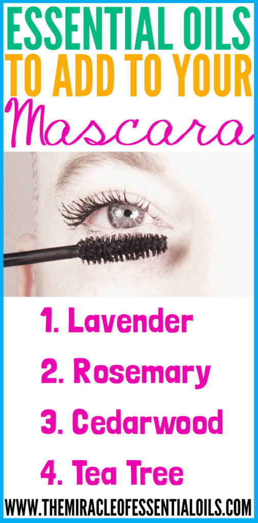 Check out some of the coolest essential oils to add to mascara!
