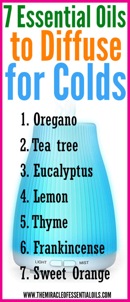 Looking for essential oils to diffuse for colds? Read on!