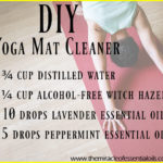 Homemade Essential Oil Yoga Mat Cleaner