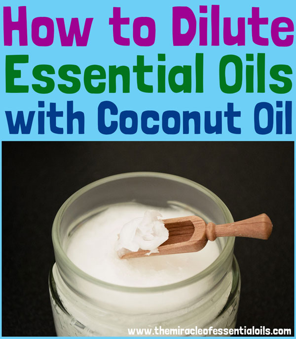 Coconut oil is one of the best ingredients to dilute essential oils with! Learn how to dilute essential oils with coconut oil in this article!