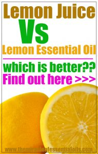 Benefits of Lemon Essential Oil Vs Fresh Lemon Juice