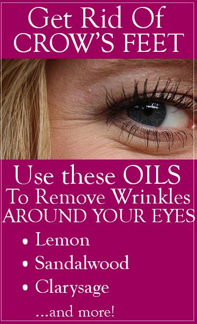 essential oils for crow's feet