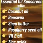 DIY Carrot Seed Essential Oil Sunscreen Recipe