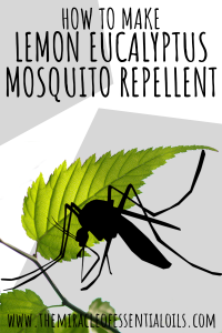 DIY Lemon Eucalyptus Mosquito Repellent Recipe