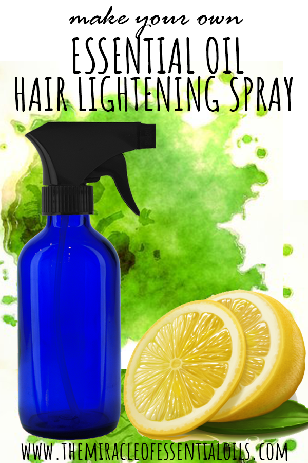 DIY Essential Oil Hair Lightening Spray Recipe