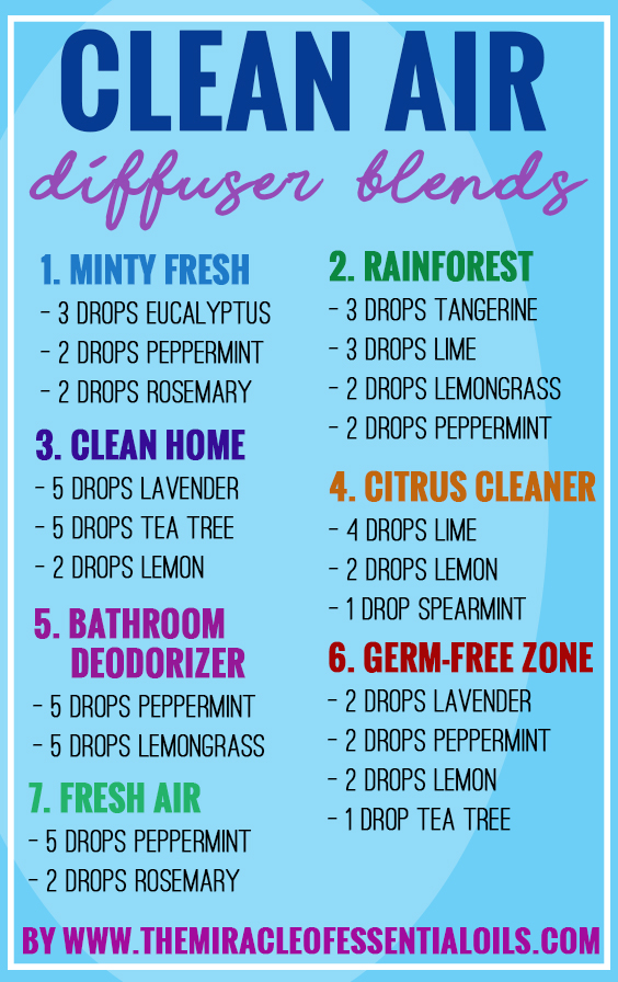 My Top 7 Essential Oil Diffuser Blends For Clean Air The