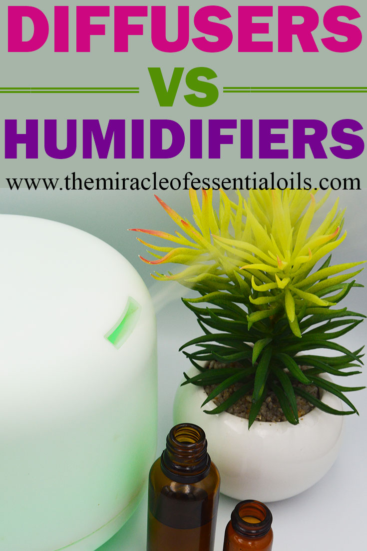 difference bewteen humidifiers and diffusers